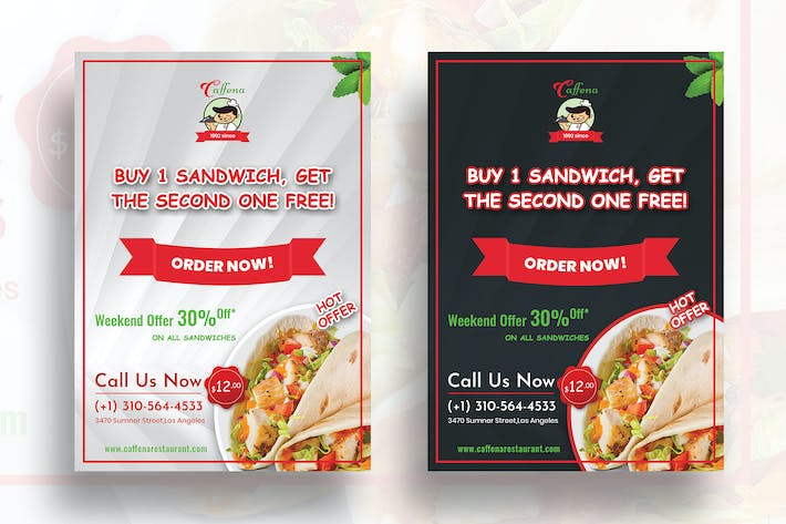 Thumbnail for Restaurant Offer - Flyer (Dark & Light)