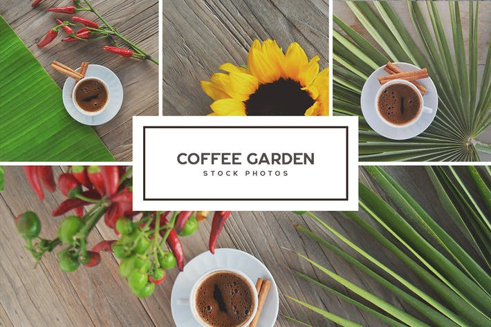 Cover Image For Coffee Garden - Stock Photo Bundle