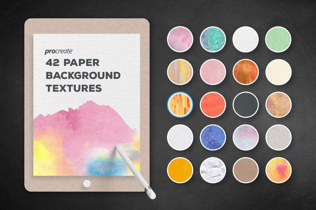 Paper Background Textures for ProCreate - product preview 0