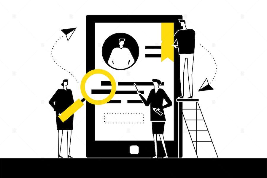 HR management - flat design style illustration