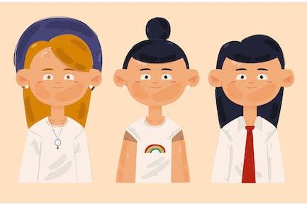 Non Binary People Illustration (2)