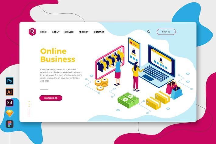Thumbnail for Entreprise en ligne - Page de destination Web et mobile