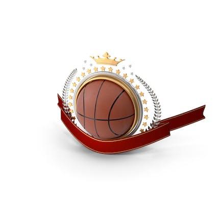 Basketball Laurel Emblem Banner
