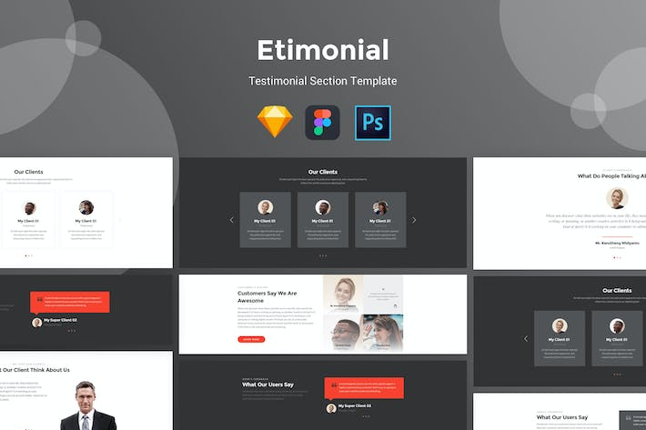 Thumbnail for Etimonial - Team Section UI Kit Templates