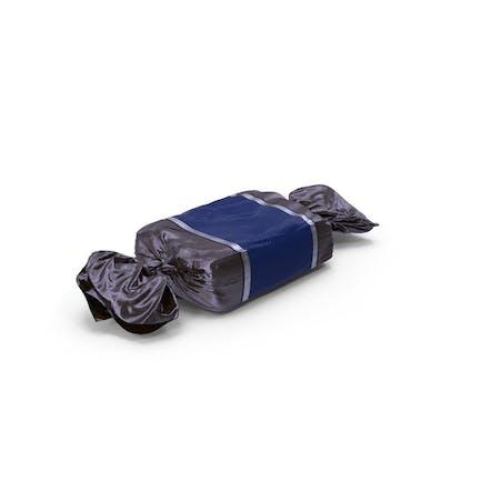 Caramelo de caramelo azul envuelto