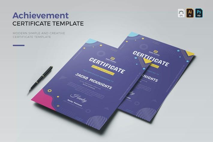 Brand Achievement | Certificate