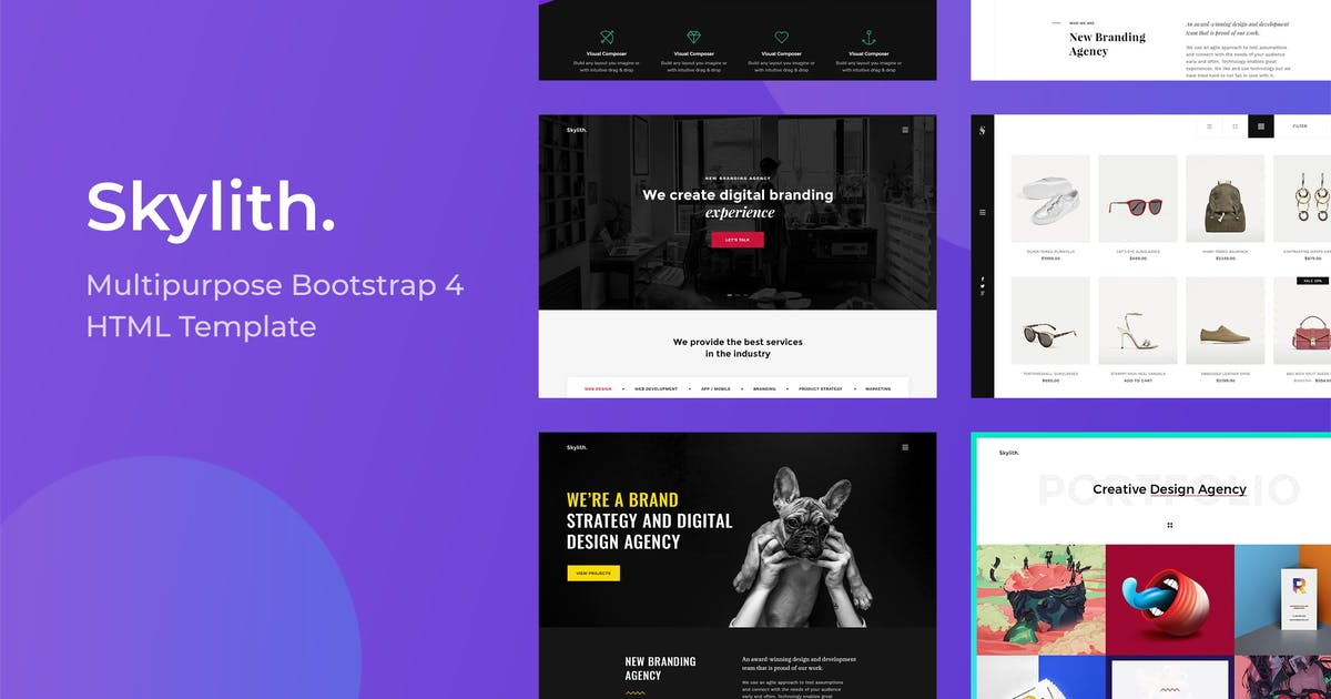 Download Skylith - Multipurpose Bootstrap 4 HTML Template by _nK