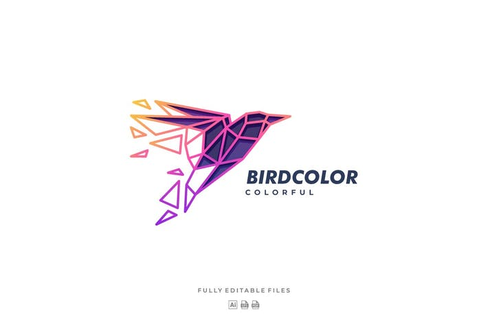 Thumbnail for Bird Color Line Art Logo