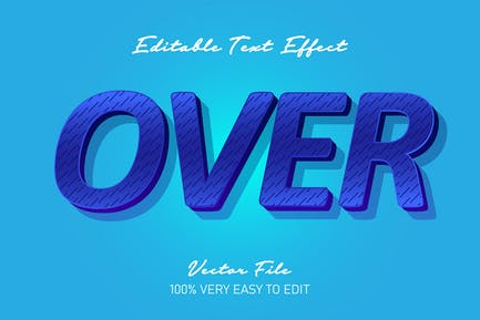 3d blue over text effect
