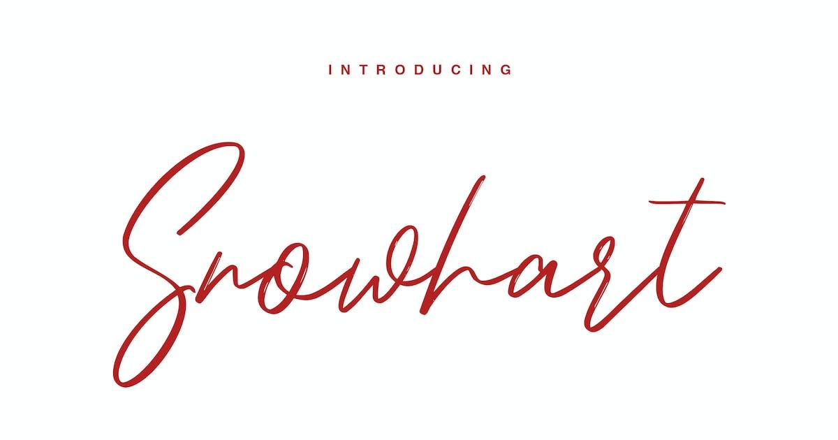 Download Snowhart - Brush Font by maulanacreative