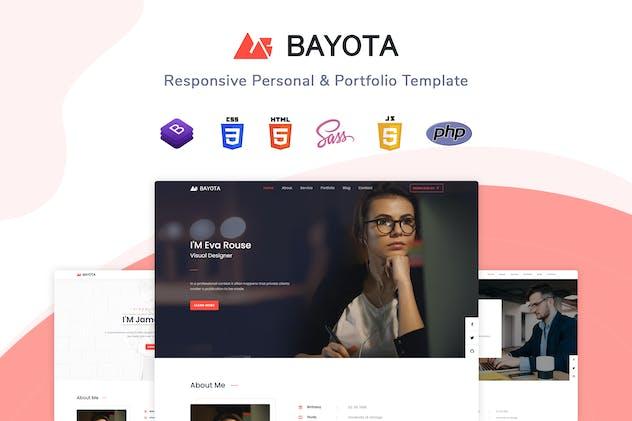Bayota - Responsive Personal & Portfolio Template
