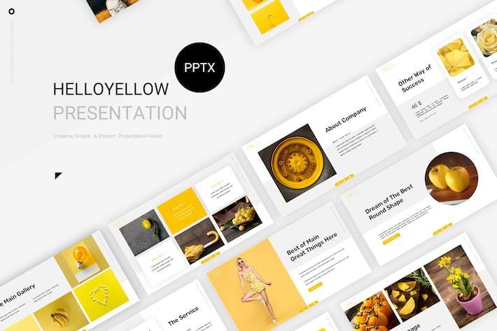 Thumbnail for Привет желтый - Шаблон Powerpoint