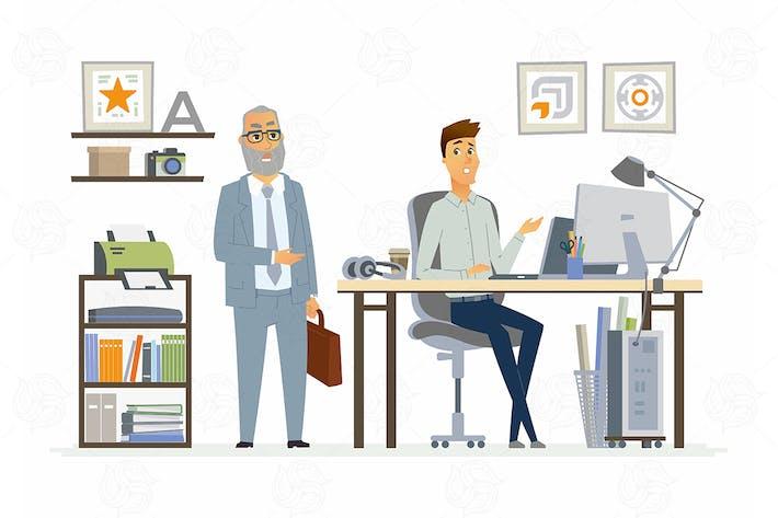 Thumbnail for Supervising Staff - vector illustration