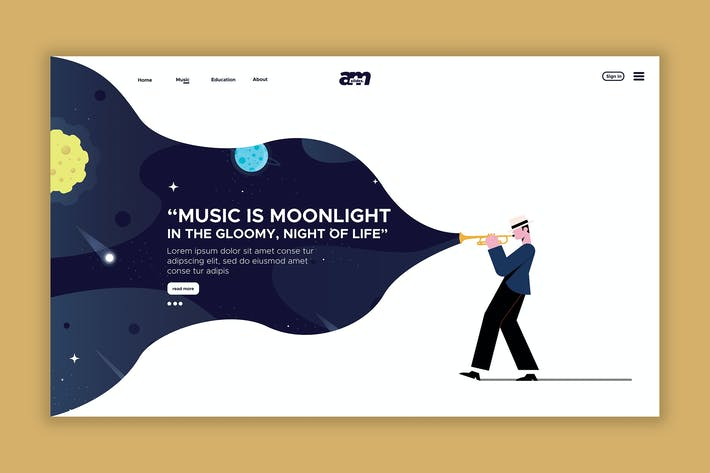 Thumbnail for Music - Web Header & landing Page