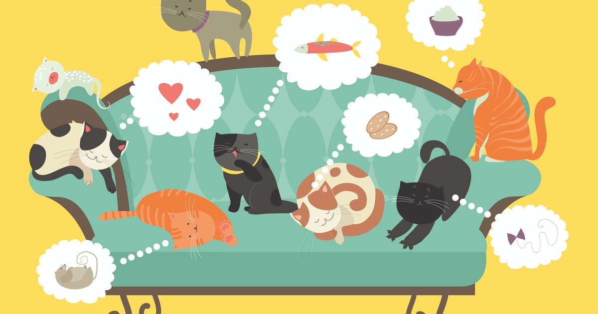 Download Funny cats with Speech Bubble. Vector illustration by masastarus
