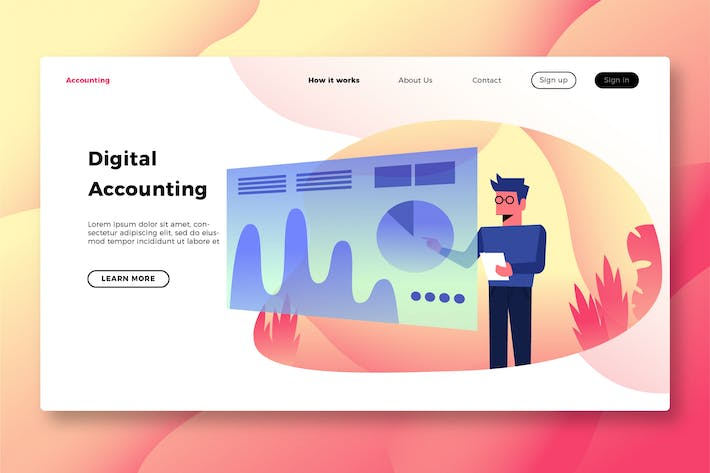 Thumbnail for Finance & Accounting - Banner & Landing Page