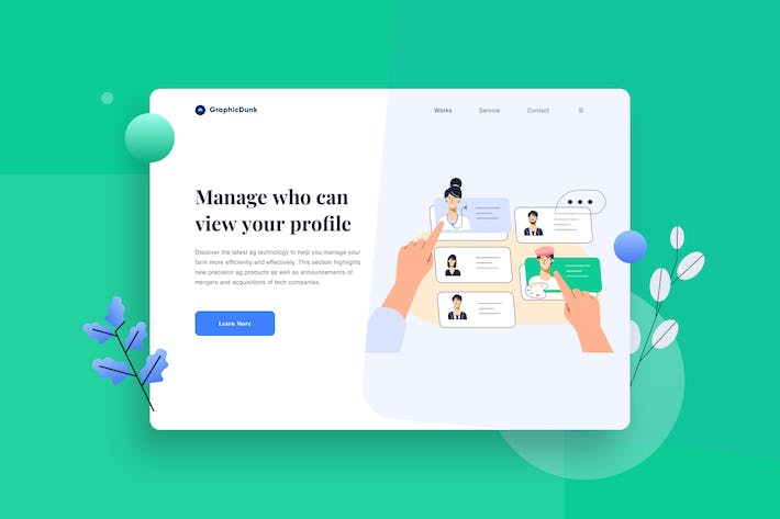 Thumbnail for Various Jobs Online Landing Page Illustration