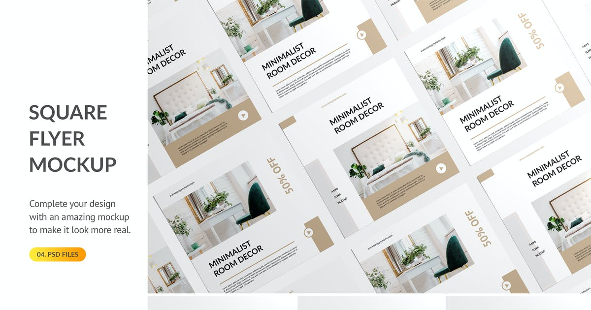 Download Square Flyer Mockup by docqueen