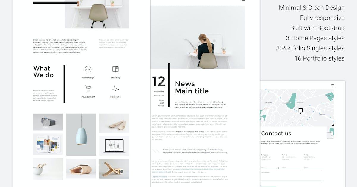 Download Valno - Minimal Creative Multi page Portfolio by puredesignThemes