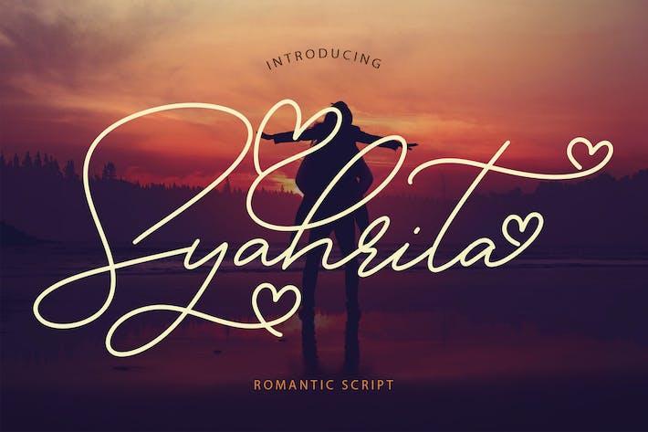 Thumbnail for Syahrita Beautiful Romantic Font
