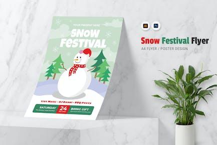 Snow Festival Flyer