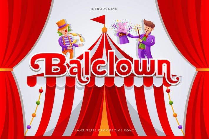Thumbnail for Balclown - Fun Bold Children Font