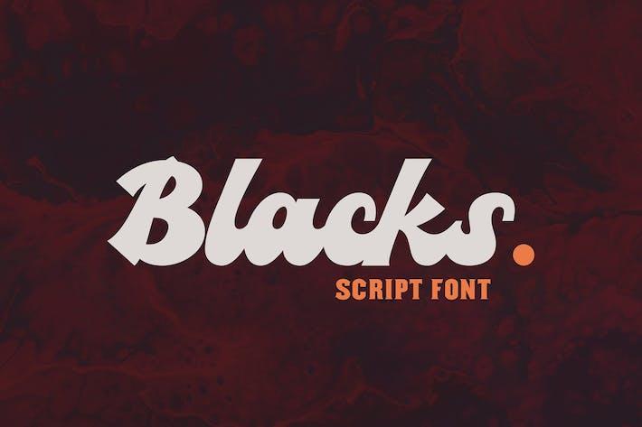 Thumbnail for Blacks Script Font