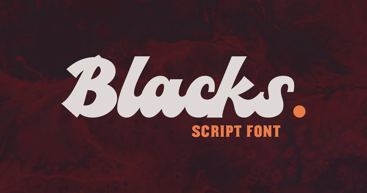 Blacks Script Font by ovozdigital