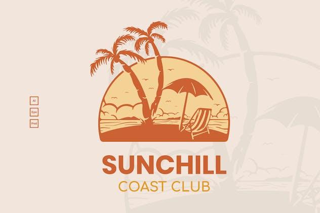 Beach Summer Badge Logo