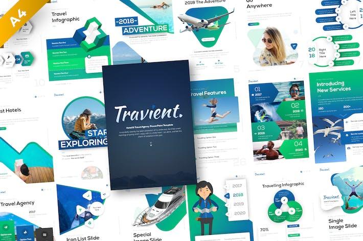 Thumbnail for Травиентный портрет путешествия PowerPoint Шаблон