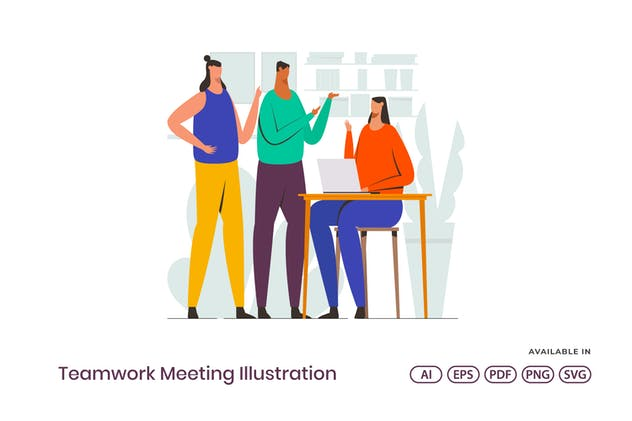 Teamwork Meeting Illustration