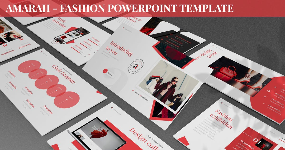 Download Amarah - Fashion Powerpoint Template by SlideFactory