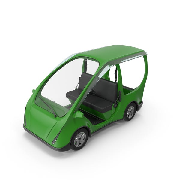 Thumbnail for Green Electric Car