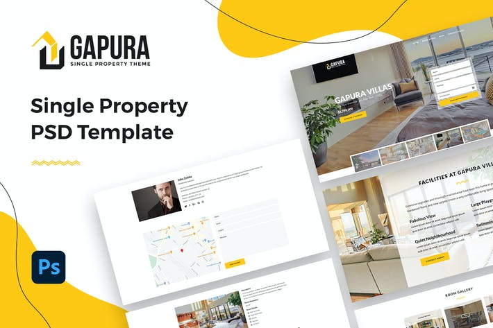 Thumbnail for Single Property PSD Template - Gapura