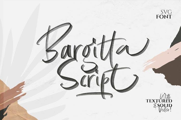 Thumbnail for Bargitta Script SVG Font