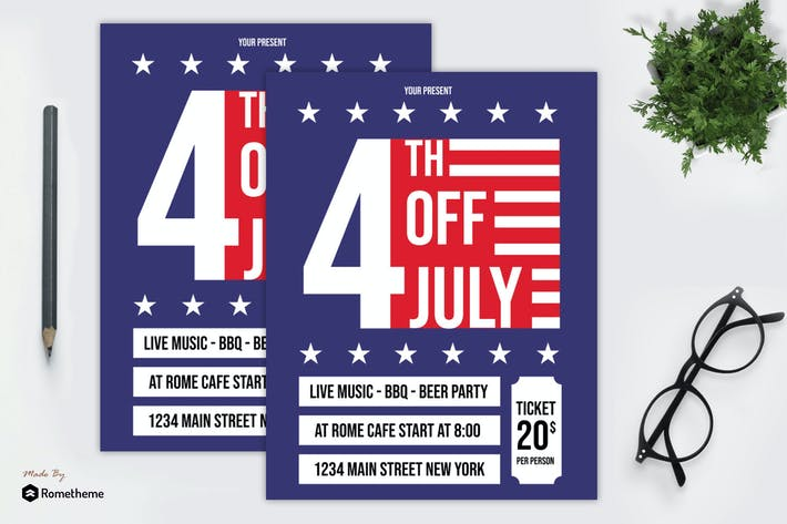 Cover Image For 4th Of July Flyer vol. 01
