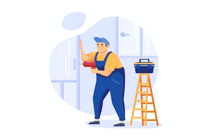 Thumbnail for Home Repairs - Handyman Service Illustration