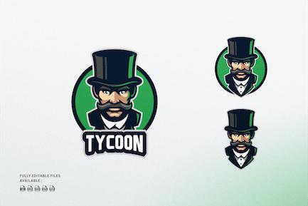 Tycoon Cartoon Character Logo