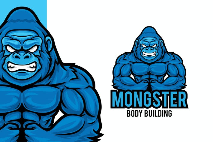 Thumbnail for Gorilla Gym Logo Mascot Template