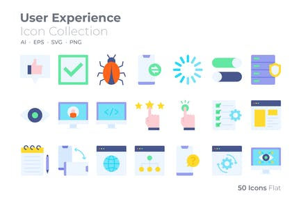 User Experience Color Icon