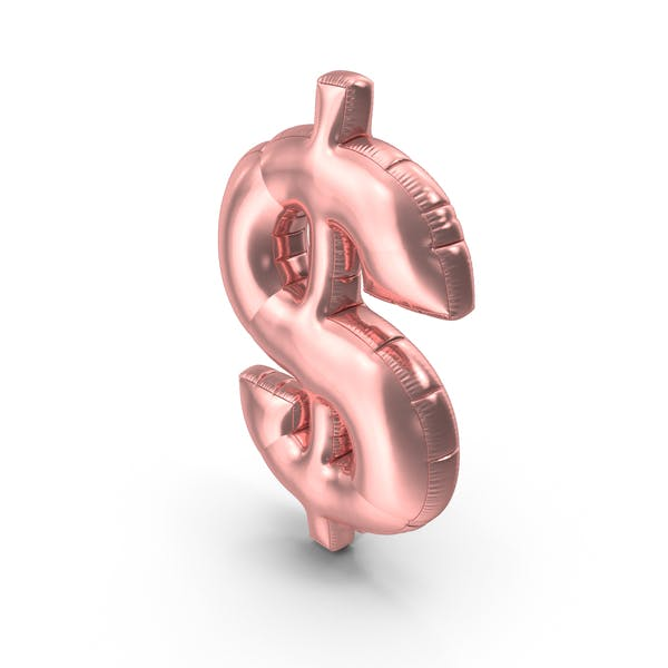 Foil Balloon Dollar Pink