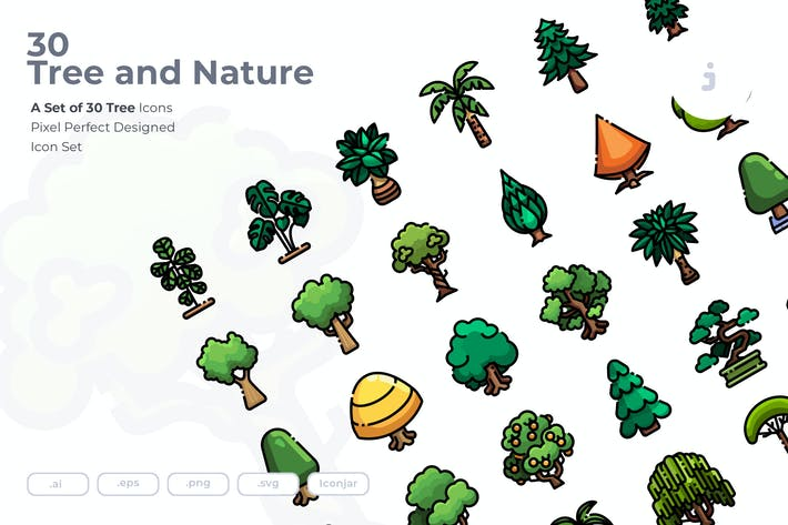 Thumbnail for 30 Tree Icons