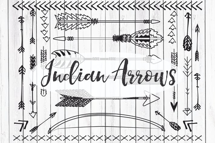 Thumbnail for Vector Indian arrows clipart
