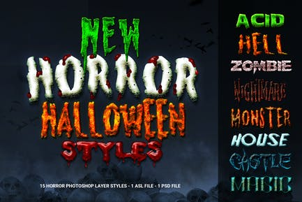 New Horror Halloween Photoshop Styles