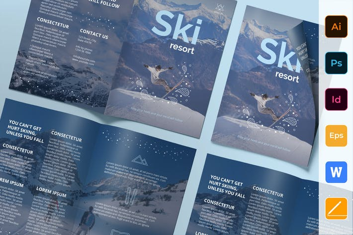 Thumbnail for Ski Resort Brochure Bifold