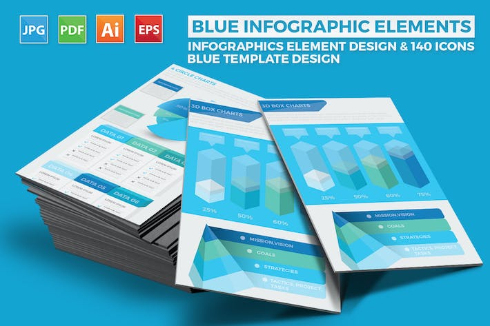Thumbnail for Blue Pack Infographics Design