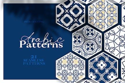 Motifs sans couture arabes et islamiques