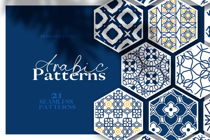Thumbnail for Arabic & Islamic Seamless Patterns