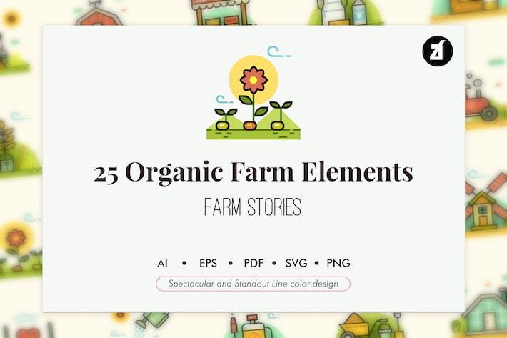 Thumbnail for 25 Organic farm elements