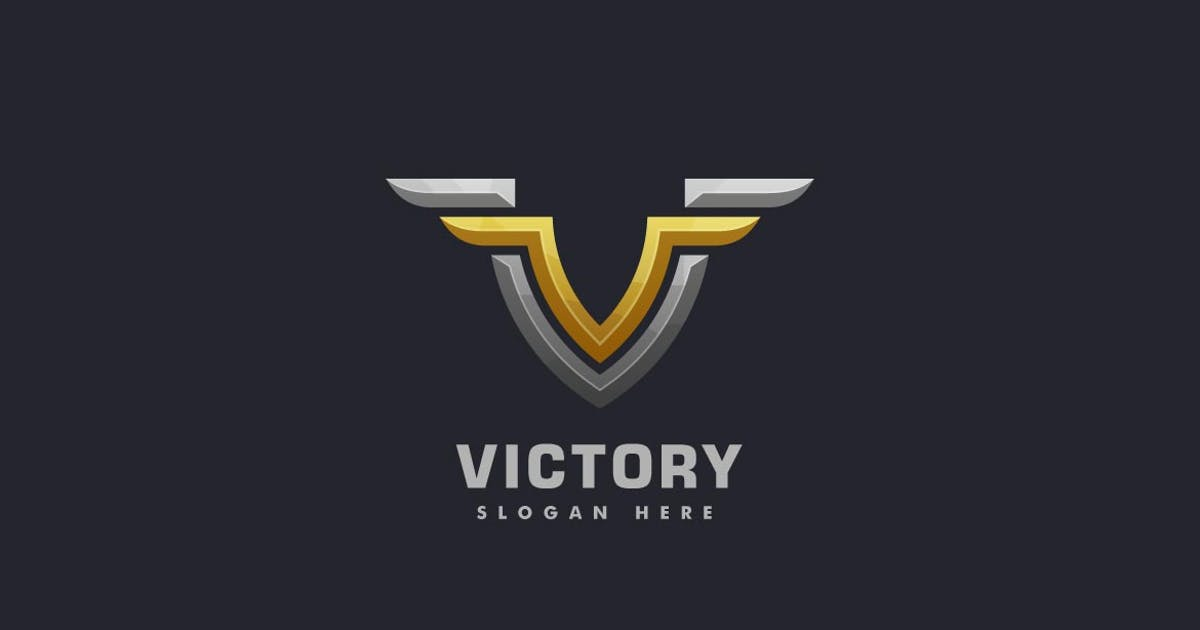 Download Bold Letter V with Wing Luxury Logo by ivan_artnivora